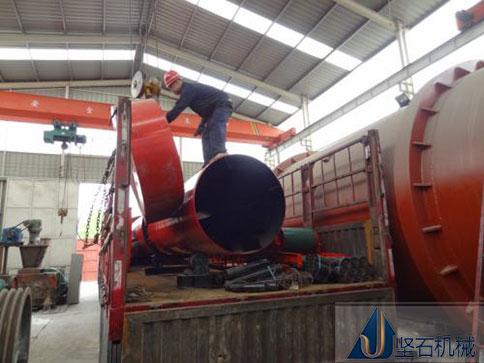 榆林客户工业烘干机设备发货现场
